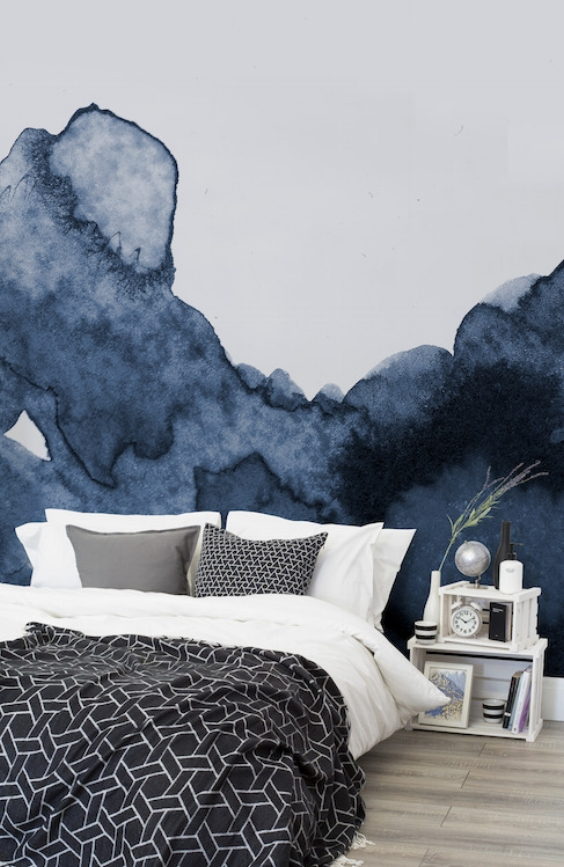 Murals Wallpaper amazing inky wallpaper makes a stunning feature wall