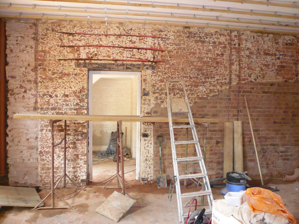 Building works on site in Sevenoaks