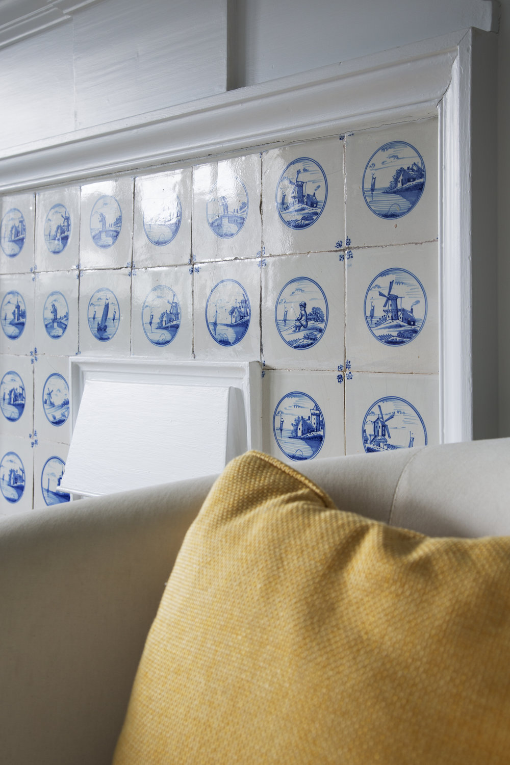 Delft Tiles in the Bedrooms