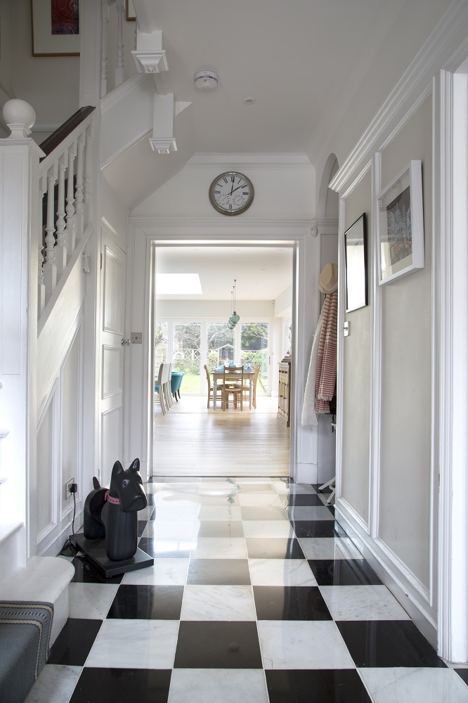 Entrance Hallway in Arts & Crafts Home in Sevenoaks
