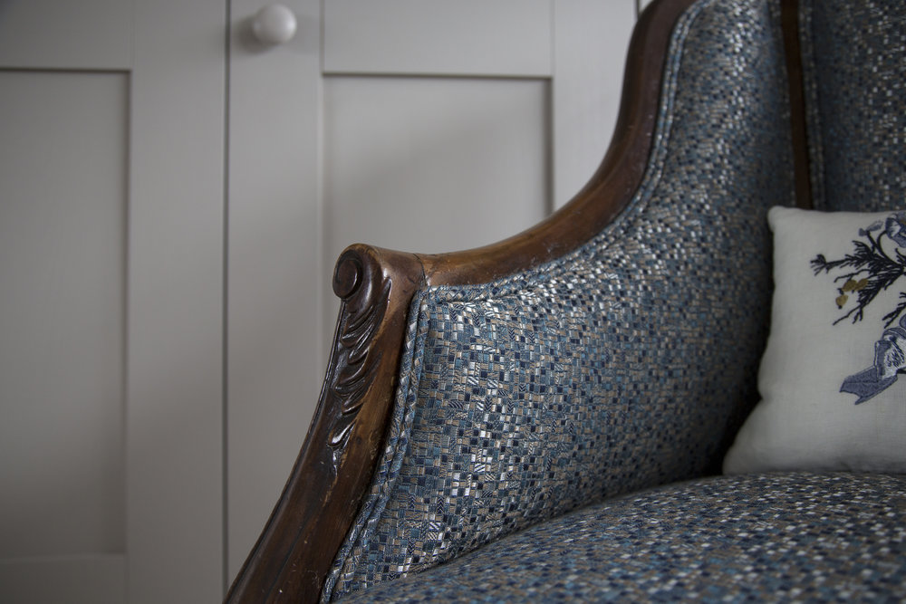 Upholstered chair in Sevenoaks project. Smartstyle Interiors