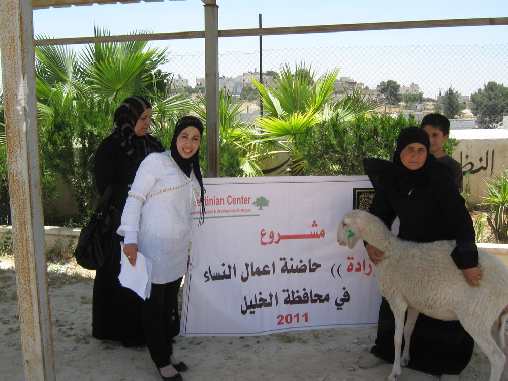 Fida while visiting one of the palatine's woman businesses who succeed to receive a fund from Irada