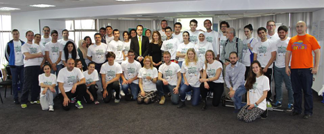 Group photo after the entrepreneurship program at Bulgaria
