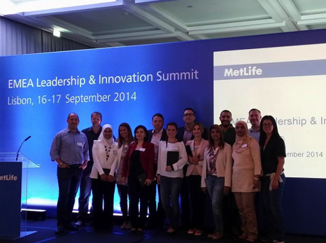 Group photo after EMEA leadership & Innovation Summit