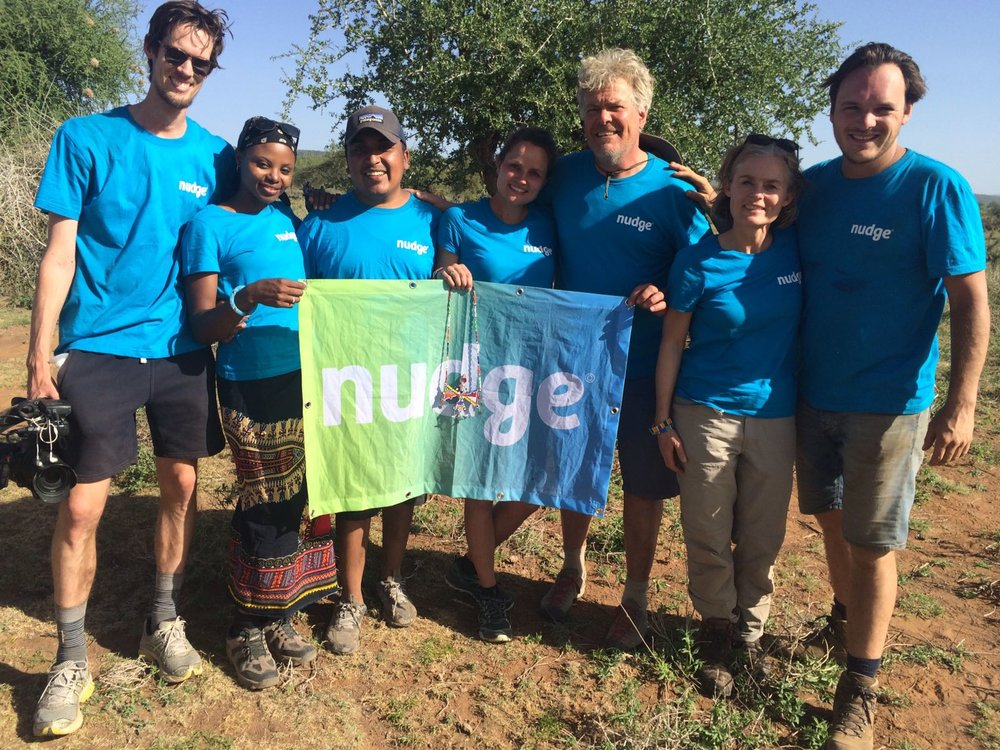 Nudge Team, (FLTR) :  Paul Reehorst, Precious Mudia, Jesse lopez, Anne Boer, Jan van Betten, Ilse Lettinga and Geert van der Linden.
