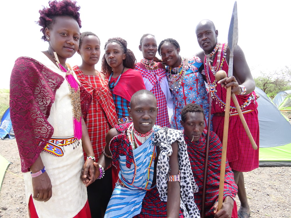 Maasai travel companions who have supported and accompanied our team throughout the adventurous walk