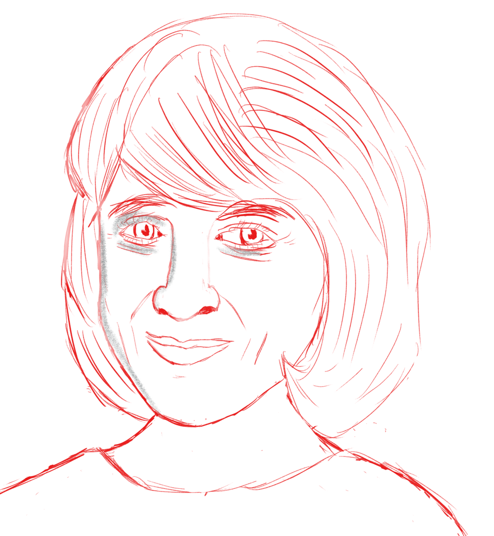 """Artist's"" sketch of Cathy Day."