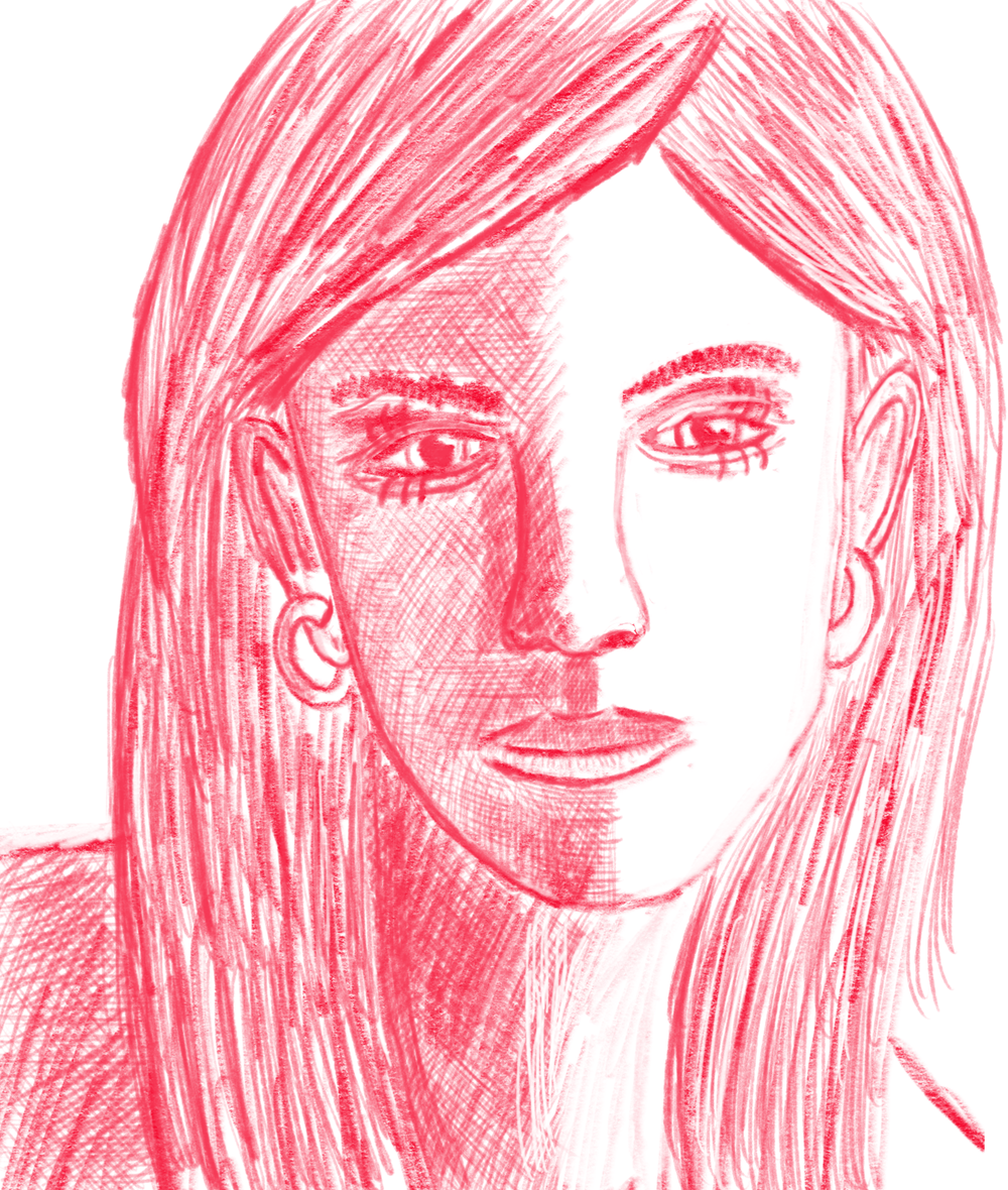 Sketch of Fiona Lawrence.