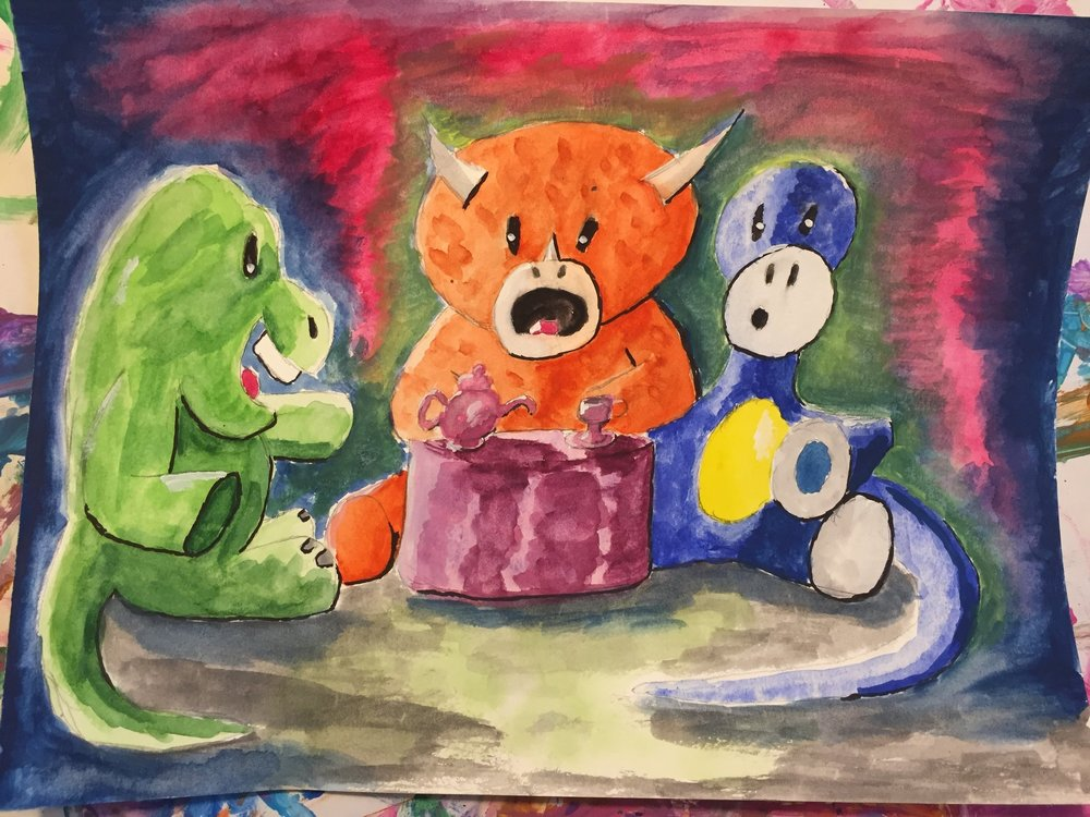 "Dinosaur Tea Party #1 ""An Uninvited Guest"""