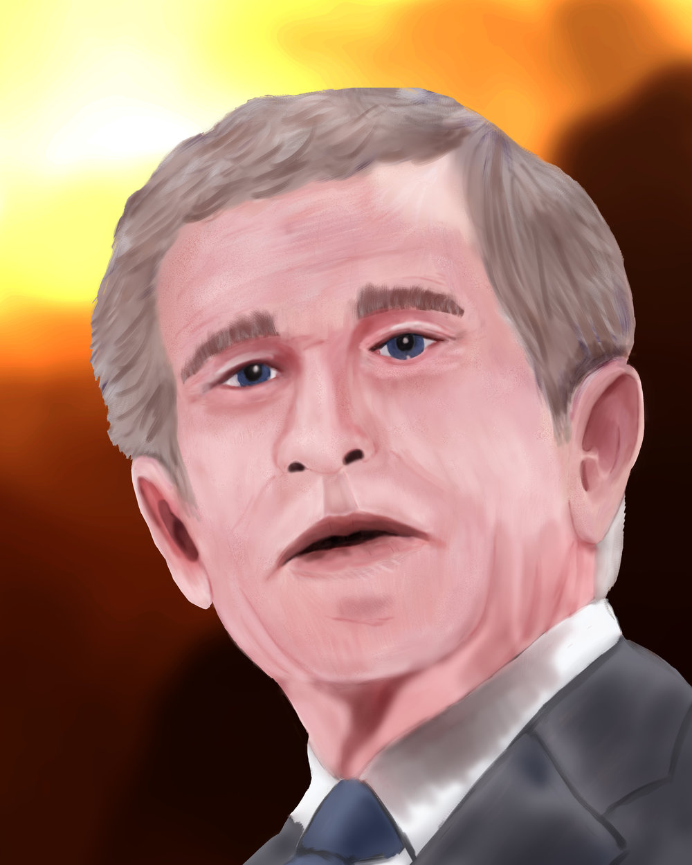 George W. Bush paints portraits of veterans and now some veterans paint portraits of George W. Bush.