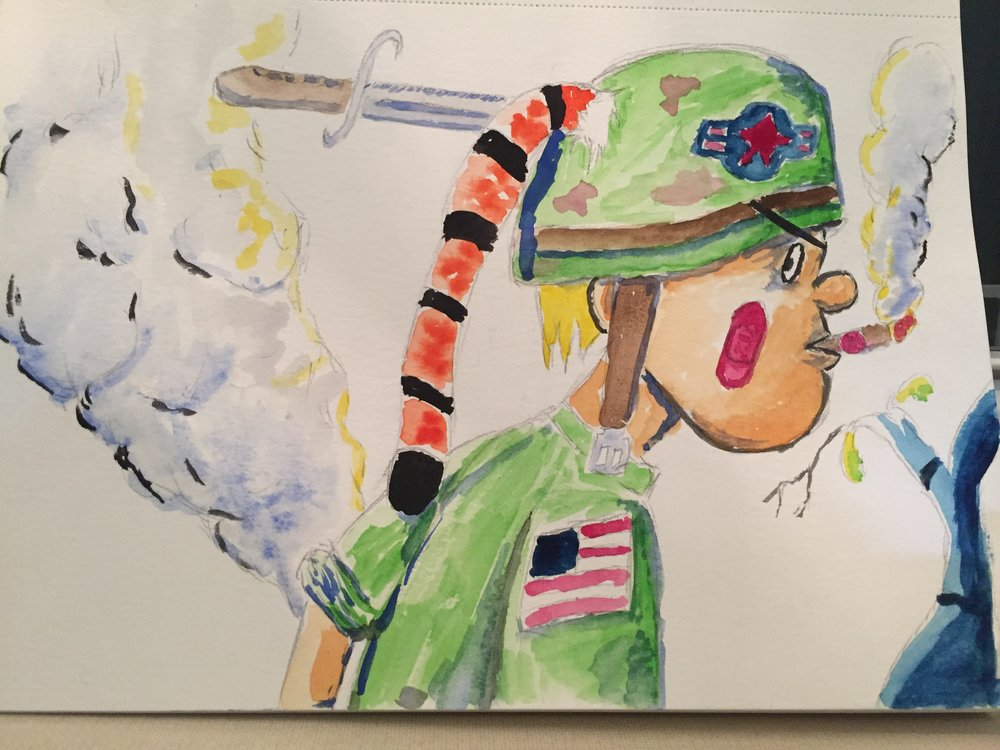 Calvin and Hobbes meets Tank Girl.