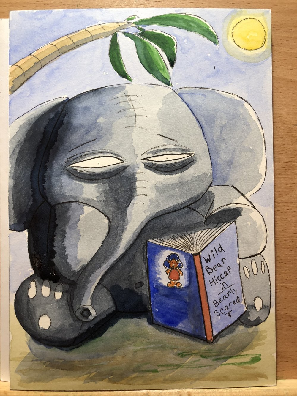 Igor is grumpy because he couldn't keep his eyes open long enough to read his fave book.