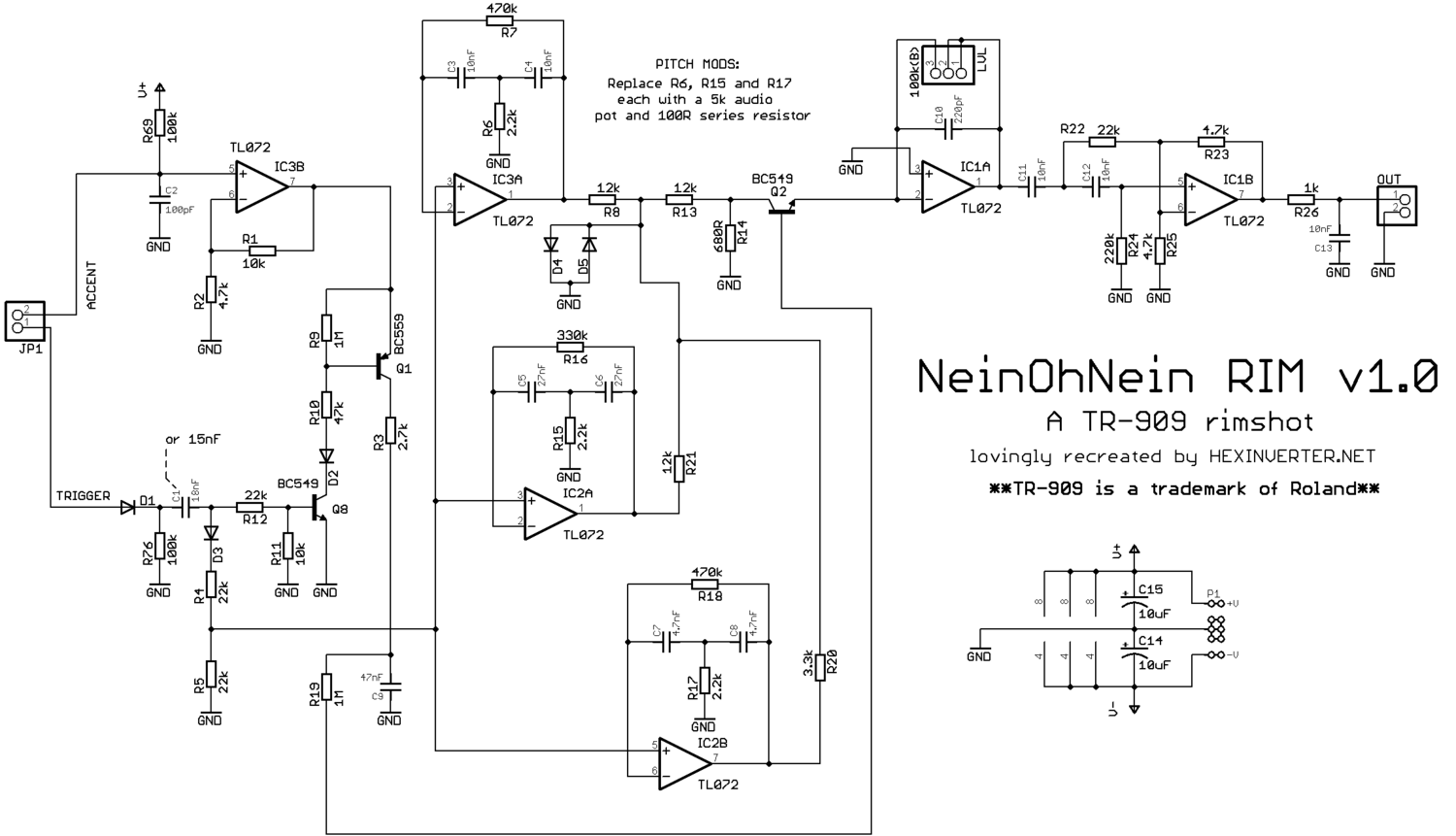 Neinohnein Rim V10 Hexinverter Lectronique Hex Inverter Circuit Panels For This Project Available Purchase At