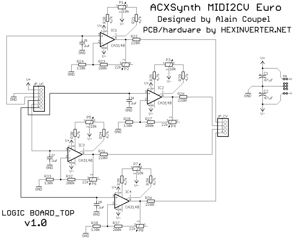 Eurorack Diy Hexinverter Lectronique Schematic Hex Pcb Midi2cv Euro Schem Logic Top V1