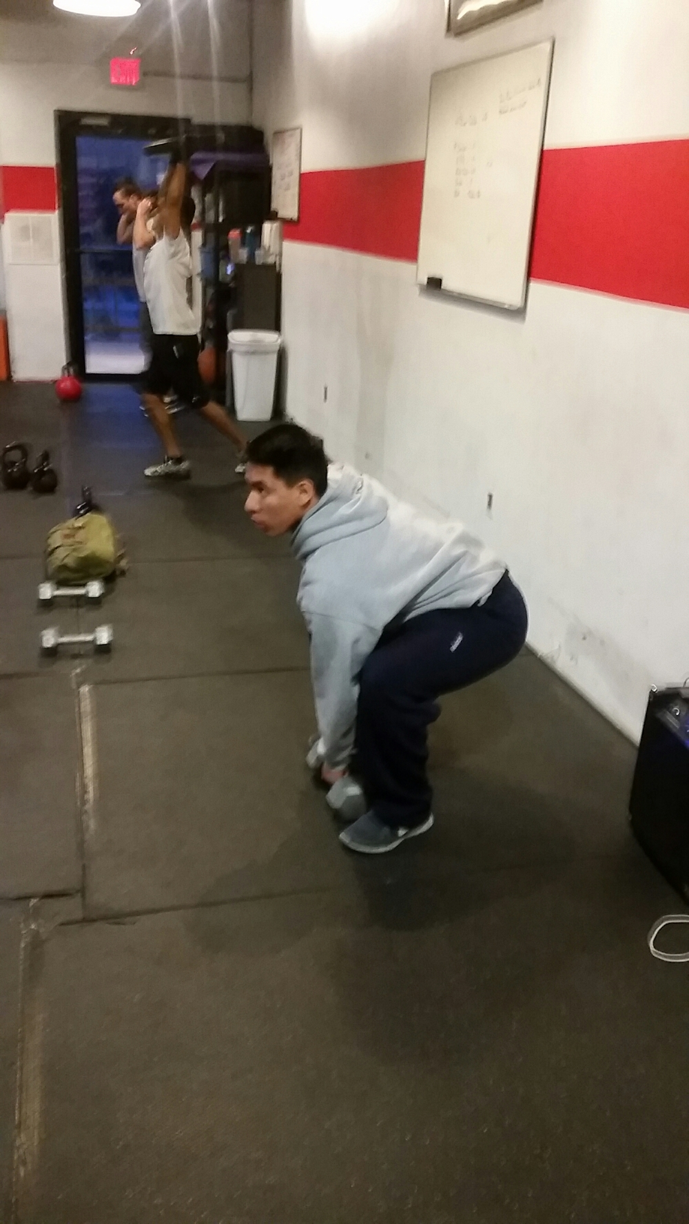 move the weight for ground to over head as fast as possible