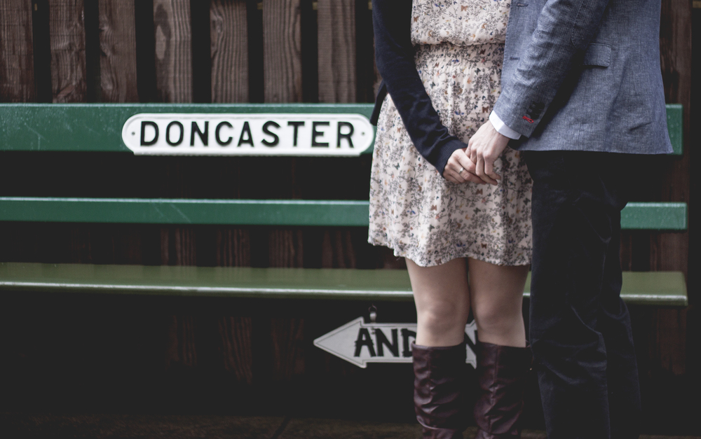 Esther Wild Photographer, Kings Lynn West Norfolk Photographer. Wolferton Station Couples Shoot.