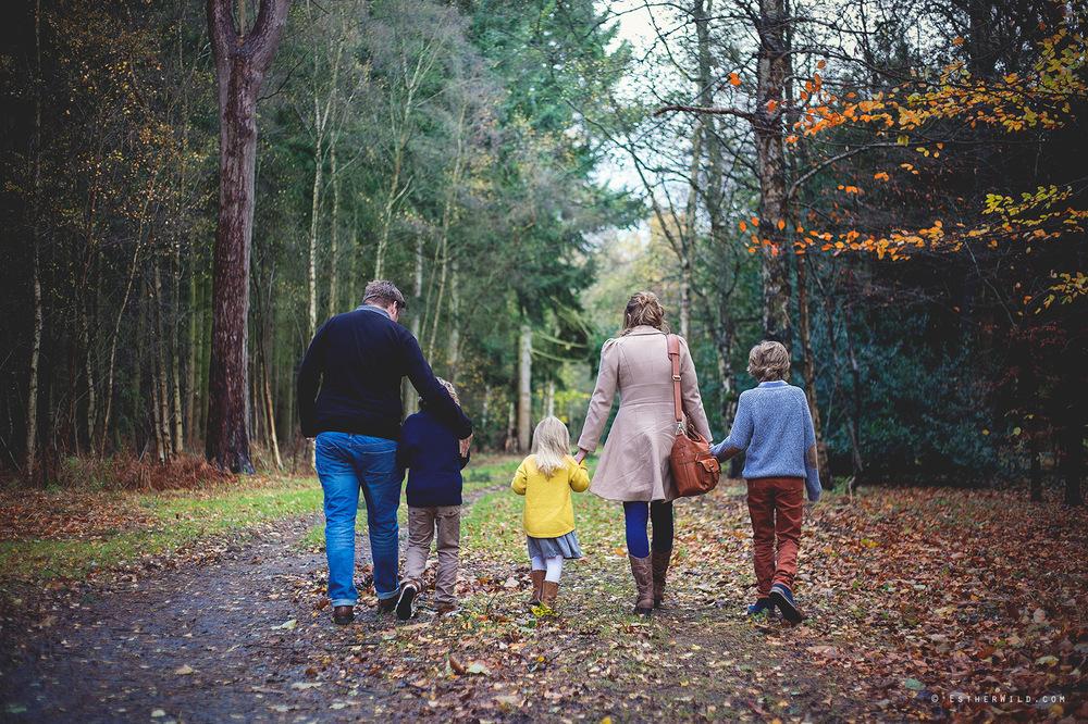 © Esther Wild Photographer, Kings Lynn, Sandringham, Norfolk. Family Photo Session outdoors woodland.