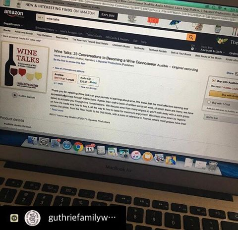 I got to participate in an awesome audio book about wine... Check it out. Available on amazon or audible