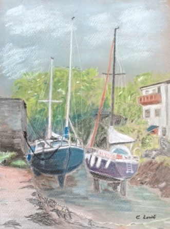 Boats-pastel