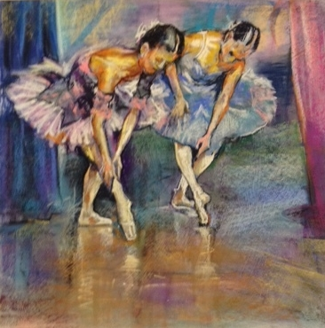 Anthony Demonstrated how to use pastels for these beautiful ballerinas