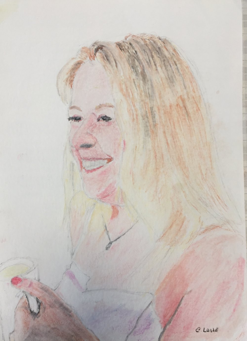 Anne portrait - Pastel pencil.