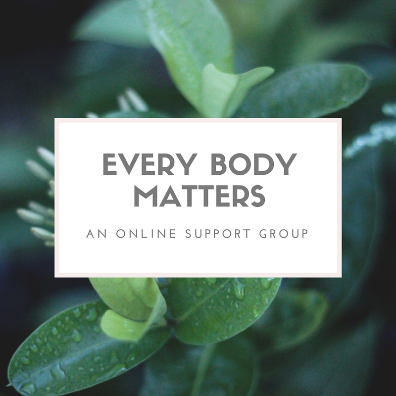 Every Body Matters is a weekly online chat about our bodies, our authentic beauty, and how we can live boldly as our true selves. Through guided discussions, reflections, stories, and creative inspiration, Every Body Matters aims to cultivate a safe and empowering online community for those who are healing from an eating disorder, disordered eating, or body dissatisfaction. Join or Watch Here: https://www.youtube.com/watch?v=QfYz8Qd-UKY