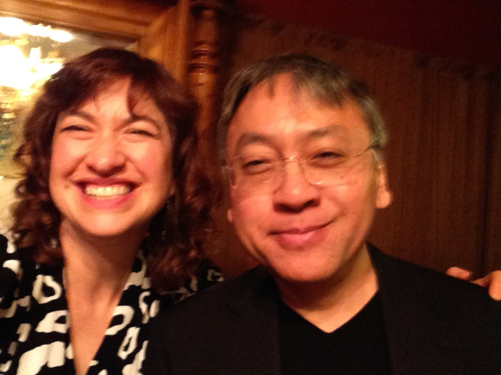 Ishiguro selfie -- he's still chewing food in this one.