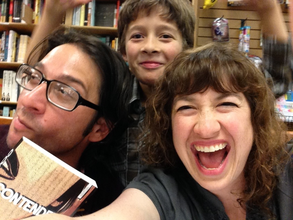 Author Delfin Vigil and one of his uber-cute kids at Books Inc., Opera Plaza, San Francisco