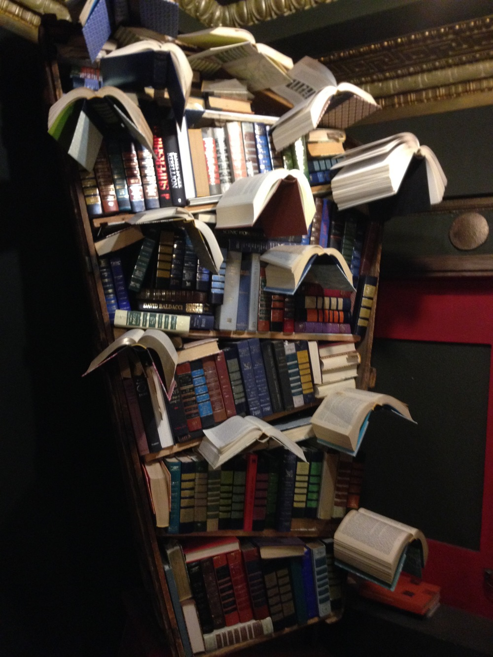 Book installations everywhere at The Last Bookstore, Los Angeles