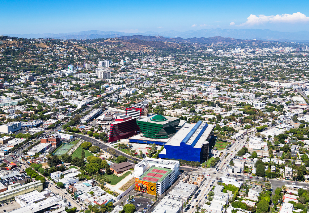 Aerial View of Pacific Design Center