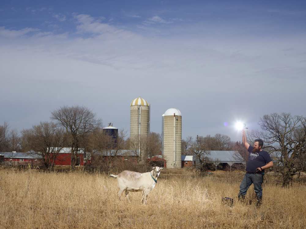My photographs explore the pastoral ideal embodied in Minnesota farmlands. My work reflects the modern pastoral exposing both utilitarian and mythical connections between humans, hoofed animals and the landscape.