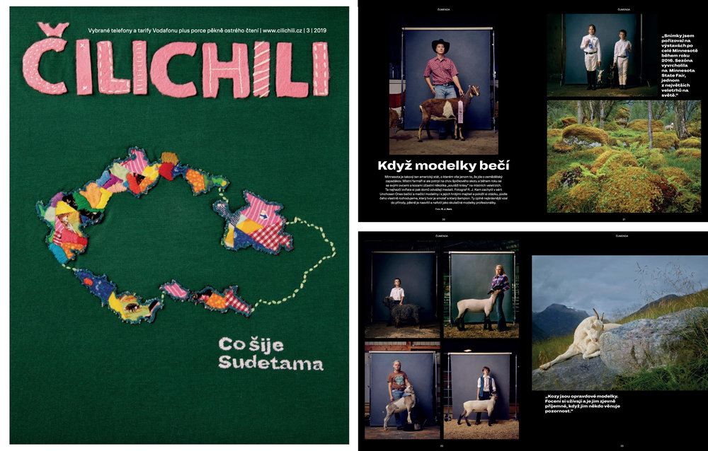 ČILICHILI magazine feature (March 2019) features the photographs by R. J. Kern.