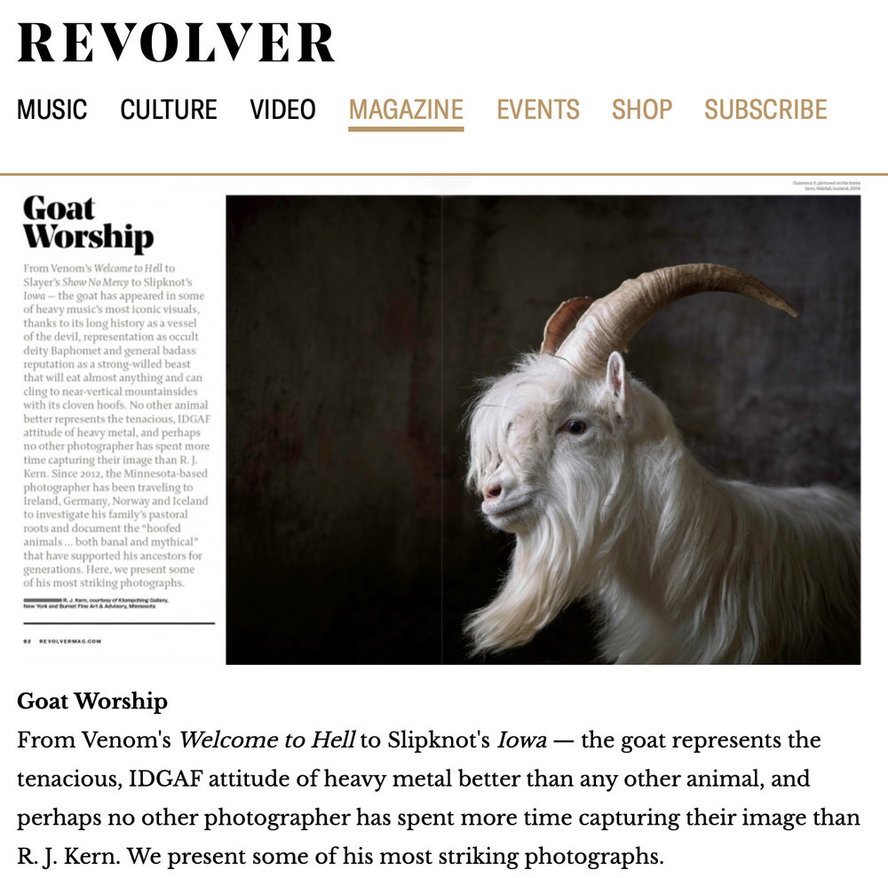 Revolver magazine features (April / May 2019) the photographs of R. J. Kern