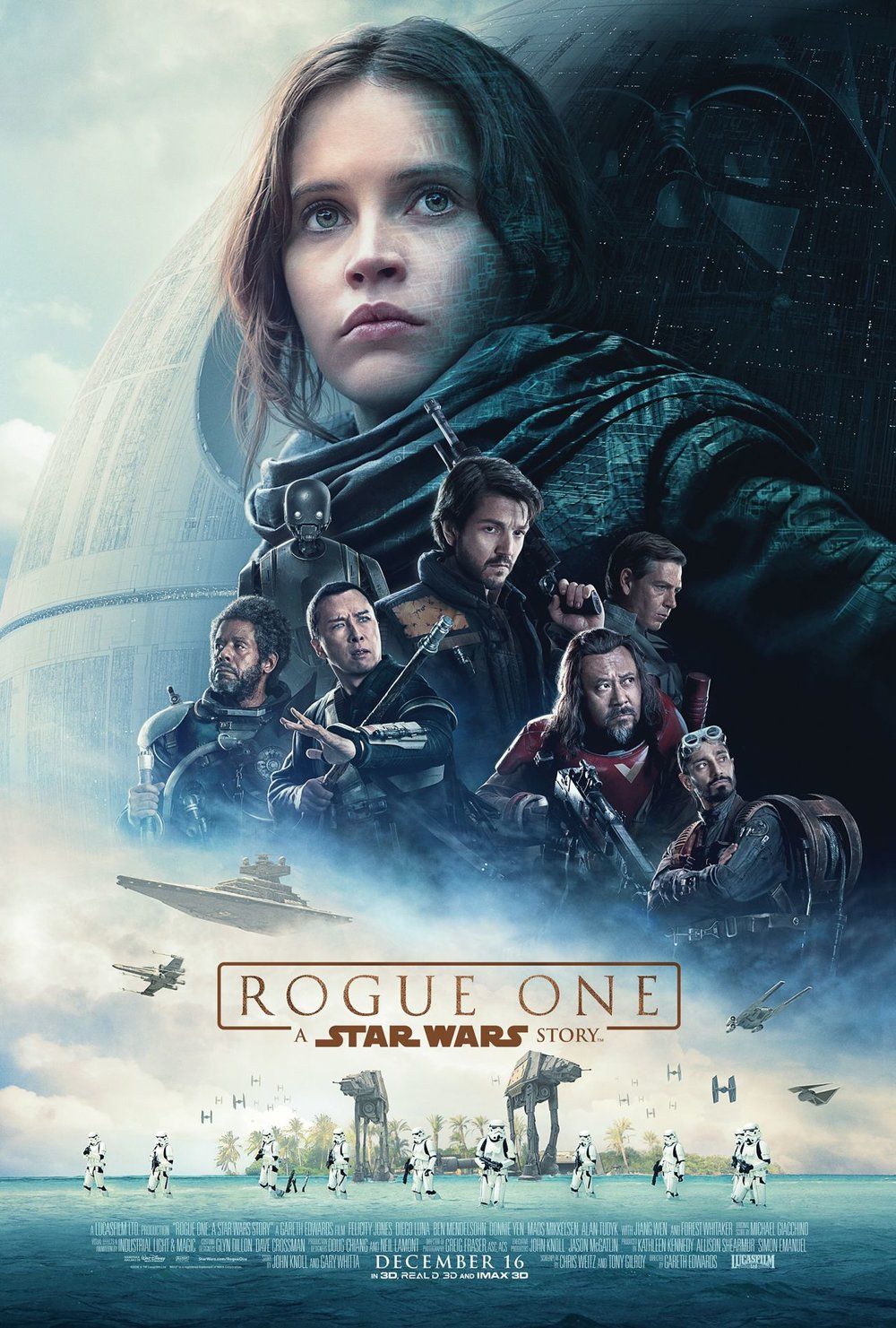 Death Star? Check. Vader helmet? Check. Floating heads? Check. Must be a  Star Wars poster.