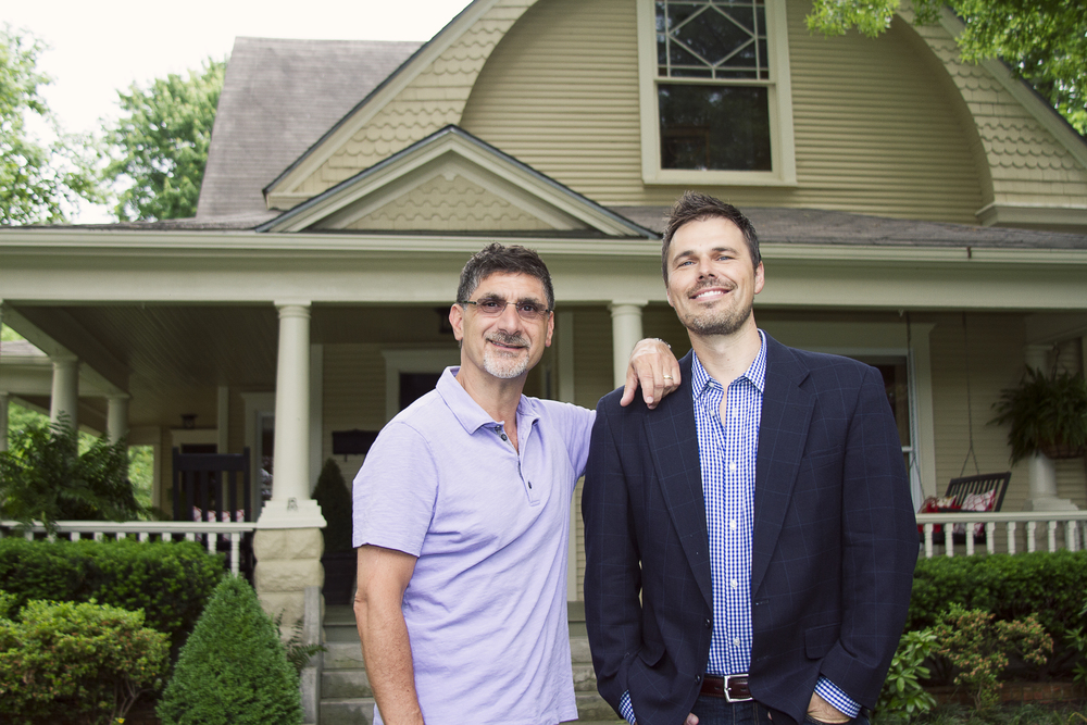 patrick sbarra and todd renfrow (respectively)at one of our projects on west central avenue in bentonville.