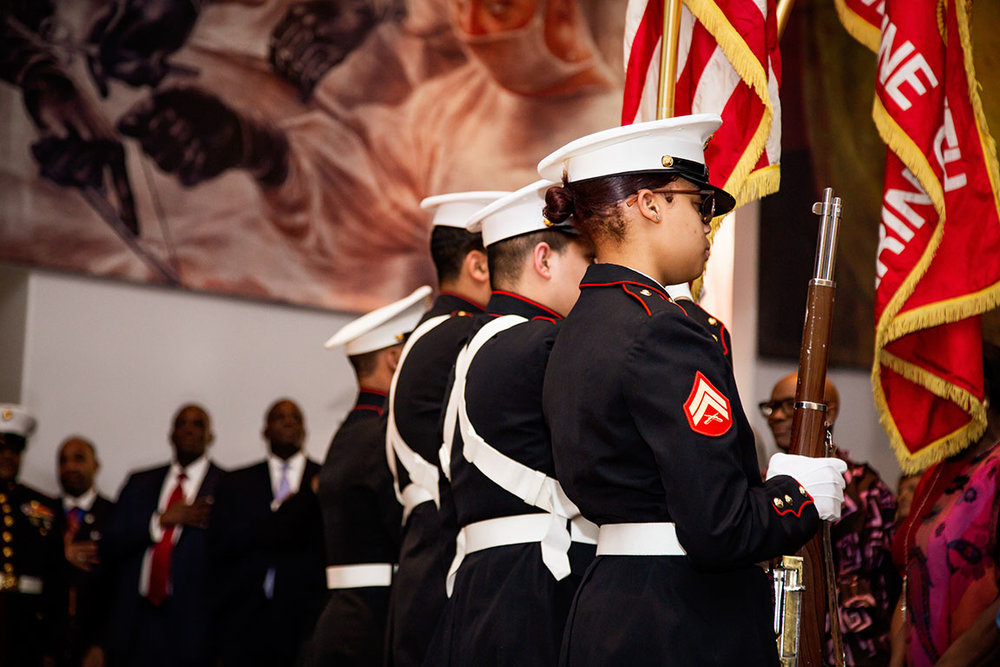 The presentation of colors.