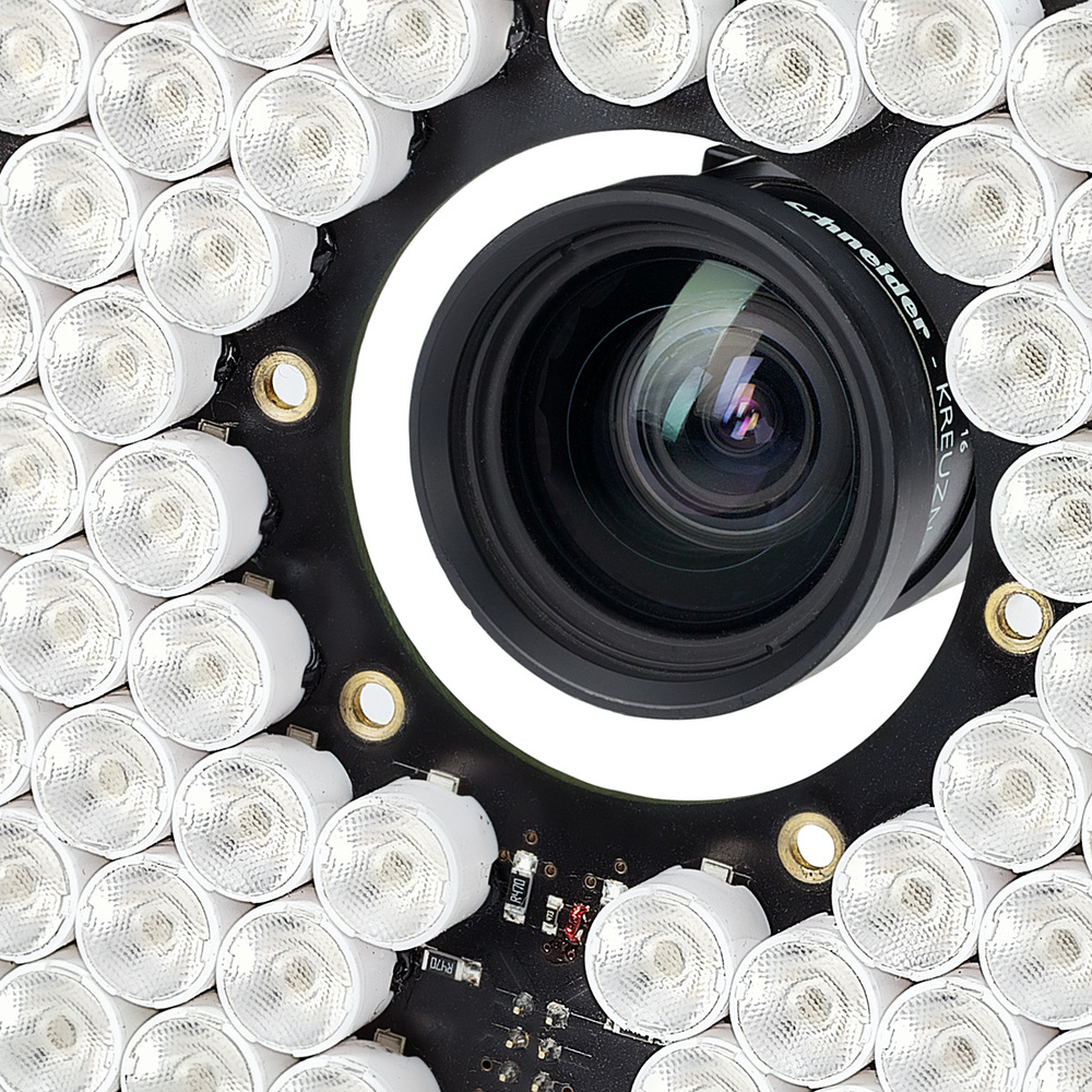 LED light-board and camera detail