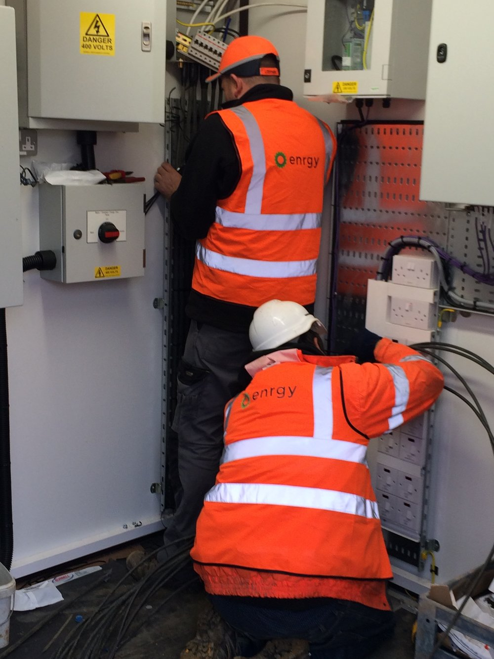 - Electrical team 1st and 2nd fix of LV cabling to energise a sub station. 5 MW project near Leamington Spa.