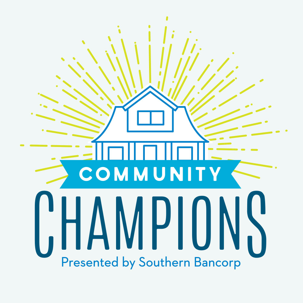 Southern Bancorp Community Partners / Community Champions Incentive Logo, Rack Card, + Poster