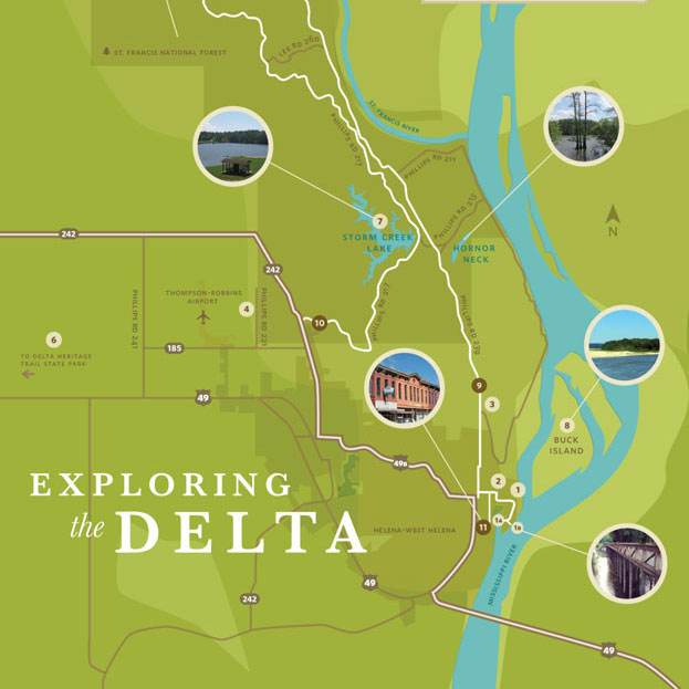 Delta Bridge Project + Audubon Society  / Eco-Tourism Map + Brochure