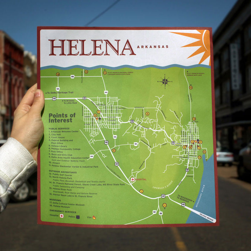 Helena A&P Commission / Helena Tourist Map
