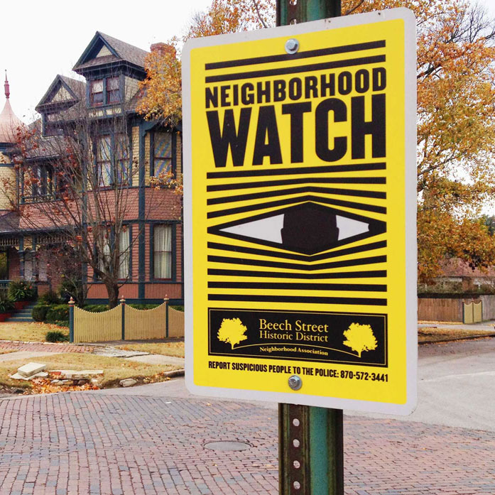 Beech Street Historic District / Neighborhood Watch Signage
