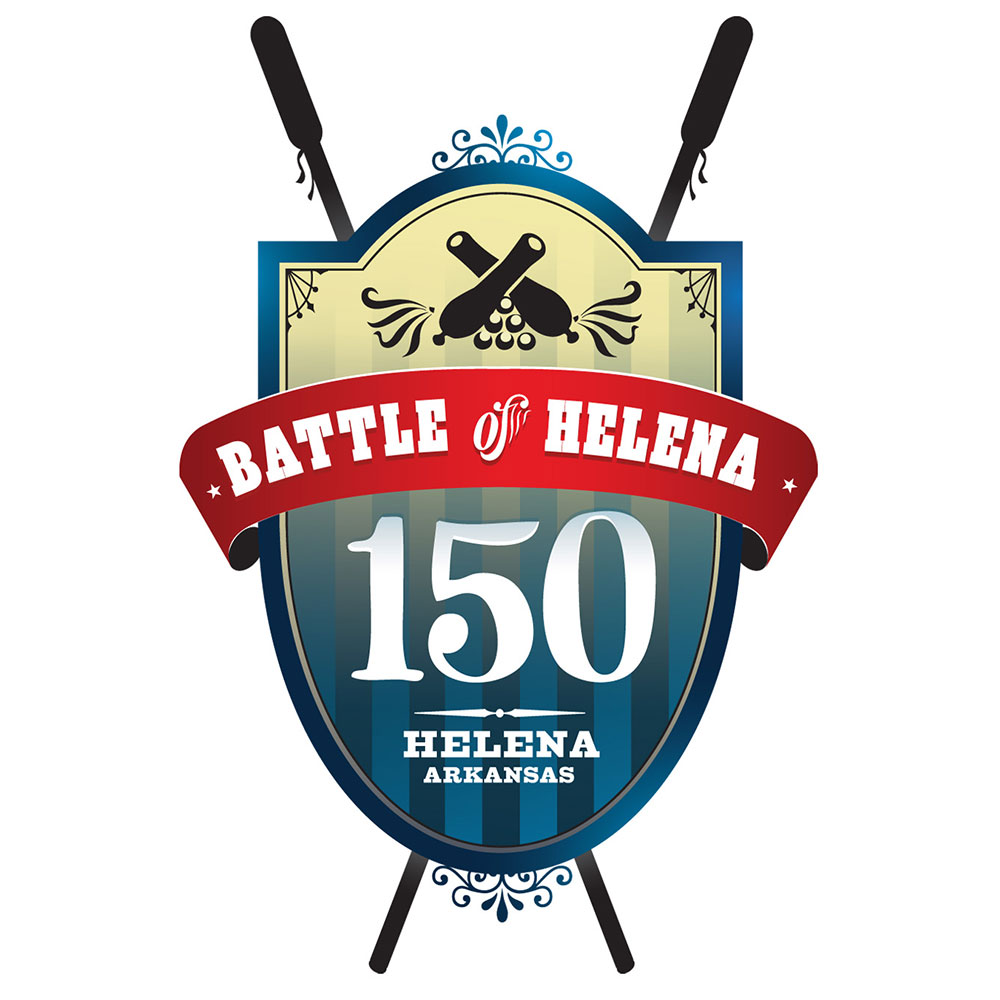 Delta Cultural Center  / Battle of Helena 150th Anniversary Logo