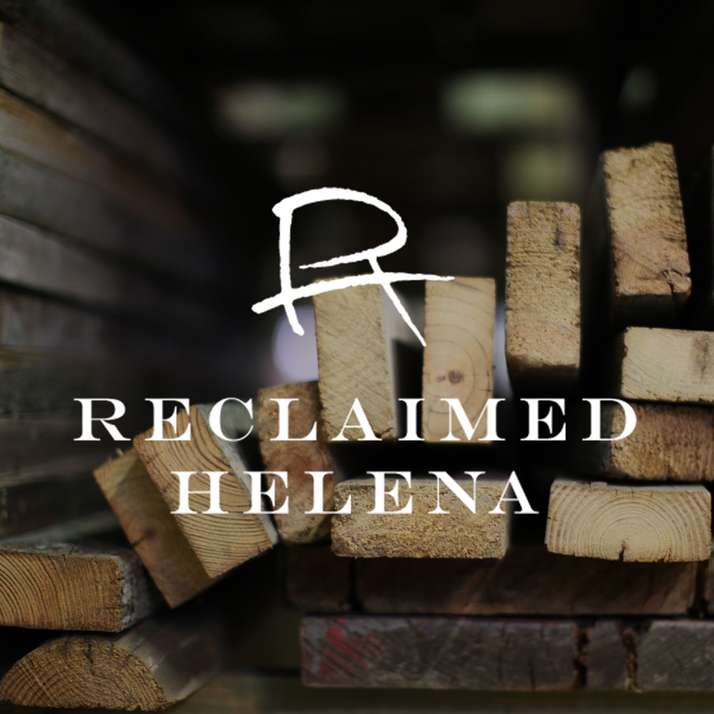 Reclaimed Helena  / Product Design, Logo + Branding, Photography, Merchandising Materials, +  Website