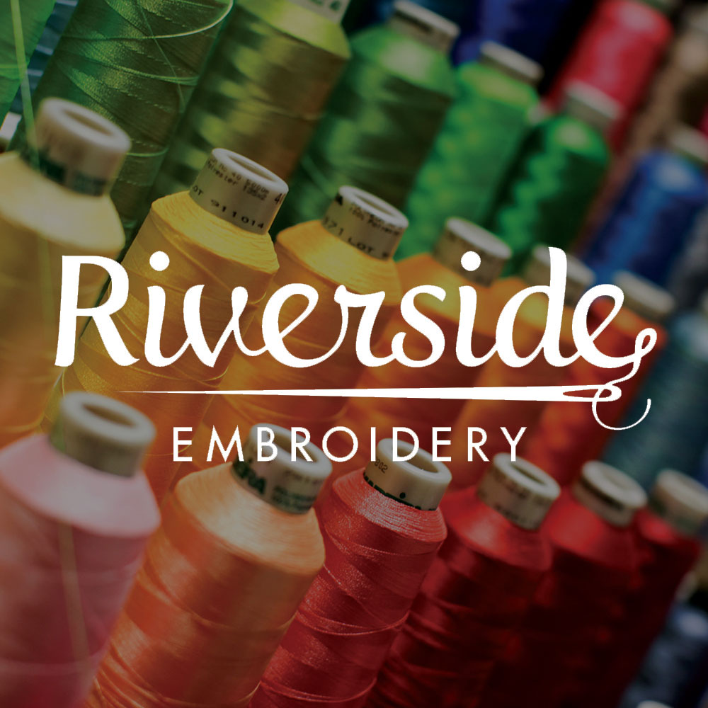 Riverside Embroidery / Logo + Photography