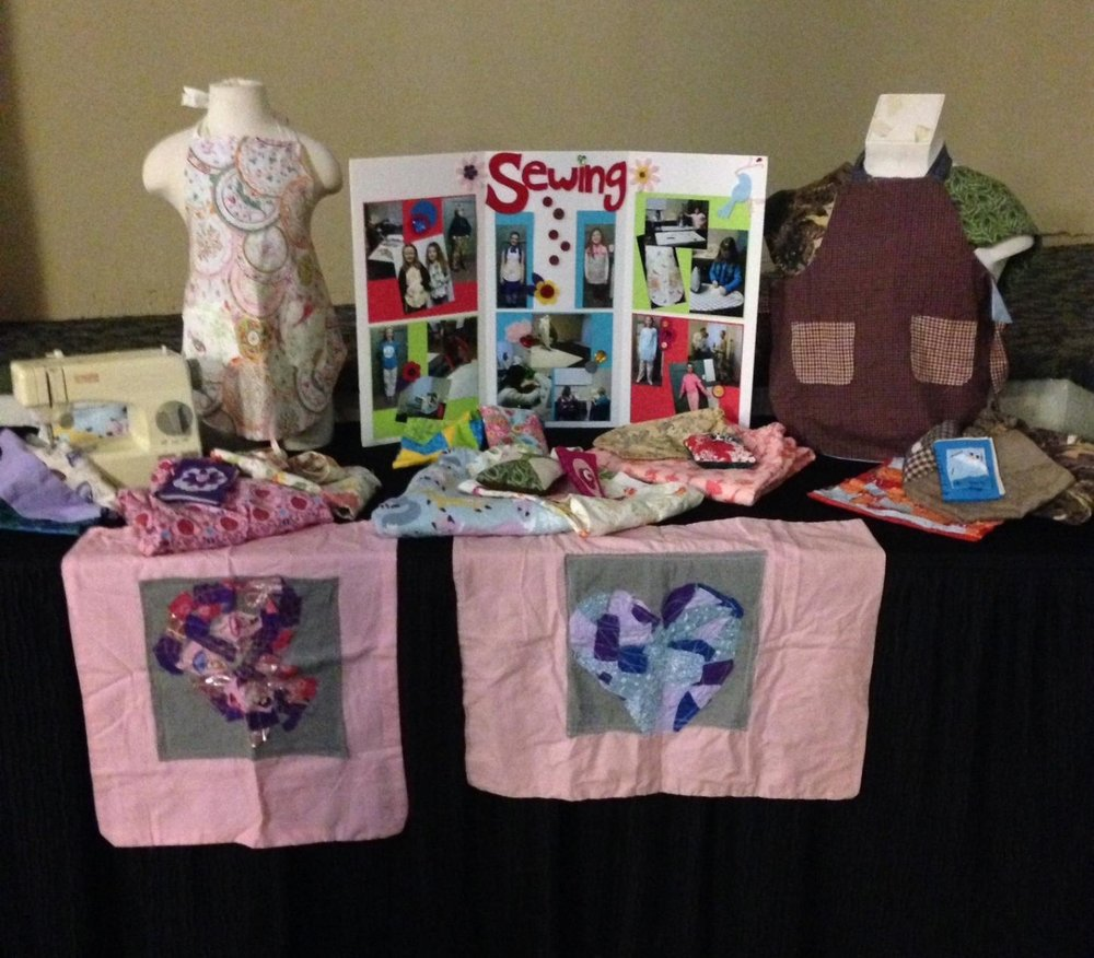 Recital Sewing Display