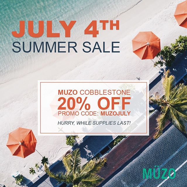 Happy 4th of July Sale!! You can now purchase the MUZO Cobblestone for 20% off normal price for the rest of July!!! Hurry while supplies last!