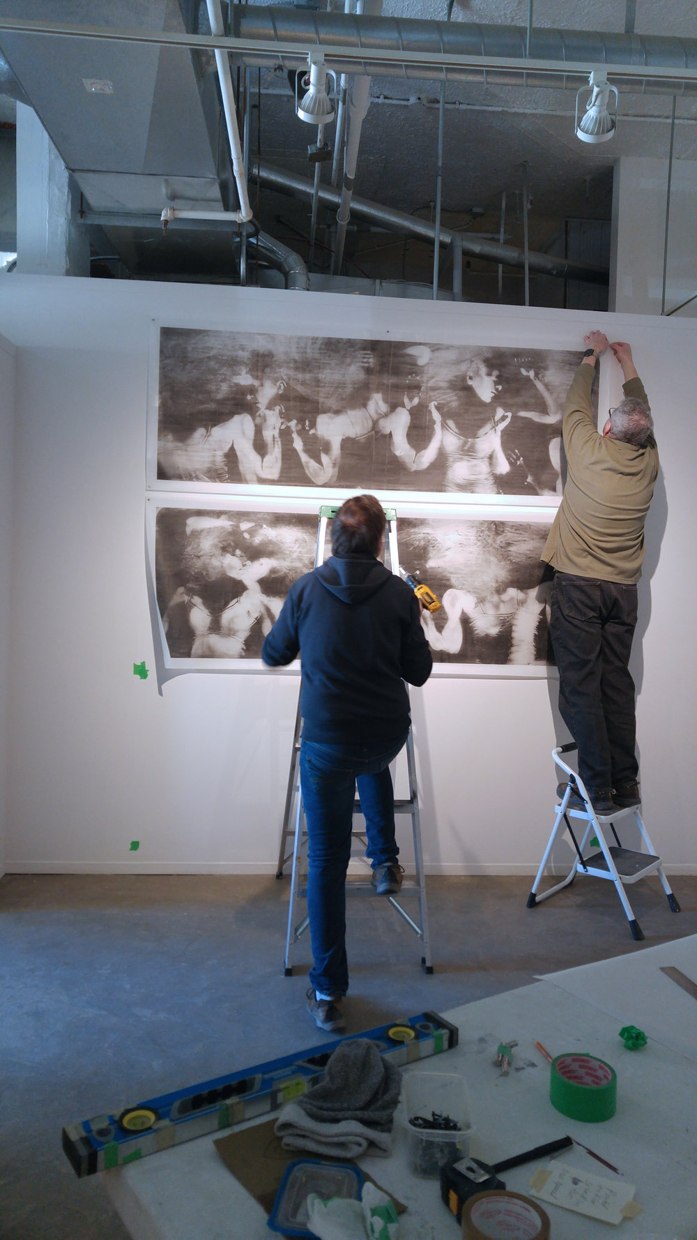 "Installation of ""Restless"""