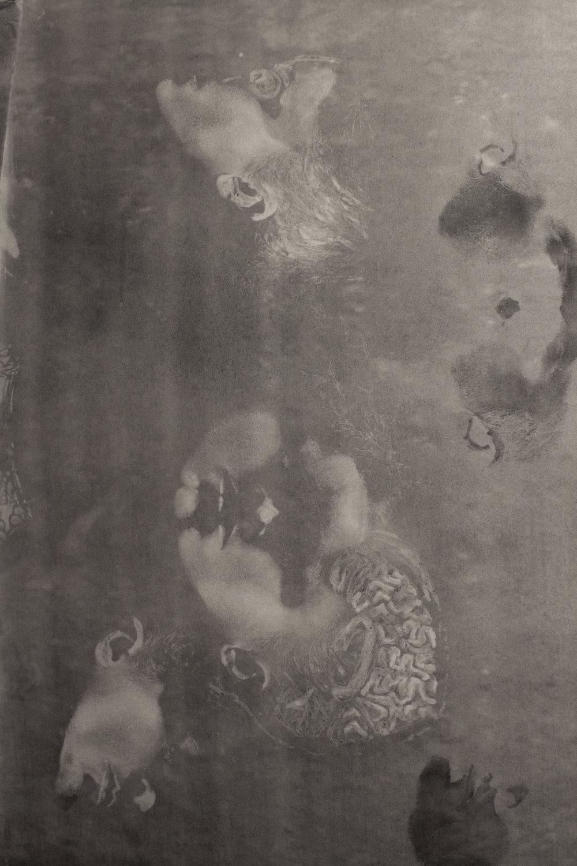 """Dermography,"" (Detail) Charcoal, 16' x 6,' 2018"