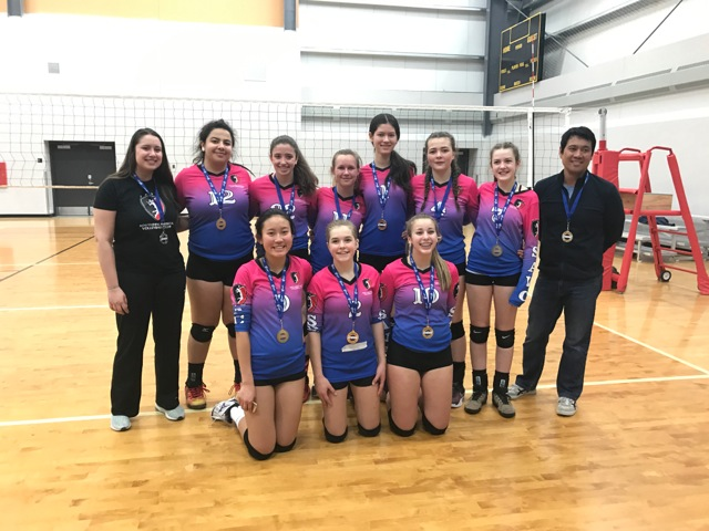 U15 Thunder earn Gold in AVA#3 With consistency and perseverance, the U15 SAVC Thunder team has worked their way up to Division 3 by winning first place in Division 4.  The team continues to display exemplary sportsmanship and are looking forward to Provincials.  Go Thunder!
